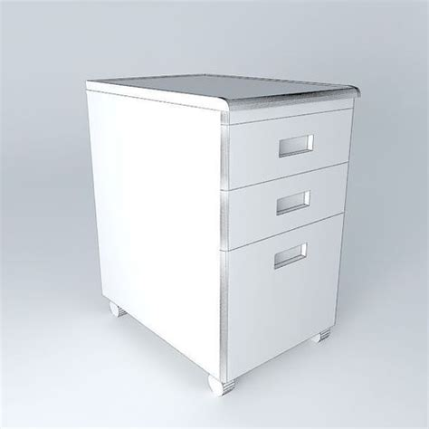 desk file cabinet 3d model max obj 3ds fbx stl dae