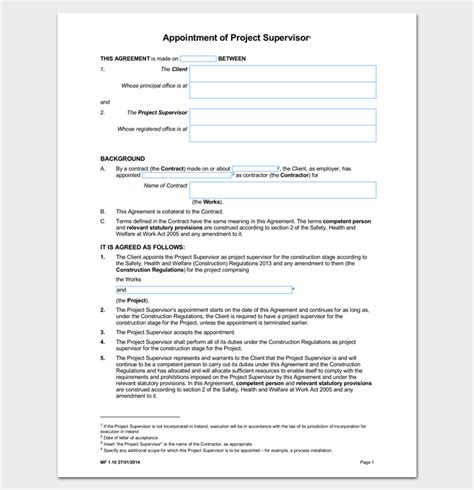 appointment letter for safety committee chairman contractor appointment letter 6 sles in word pdf