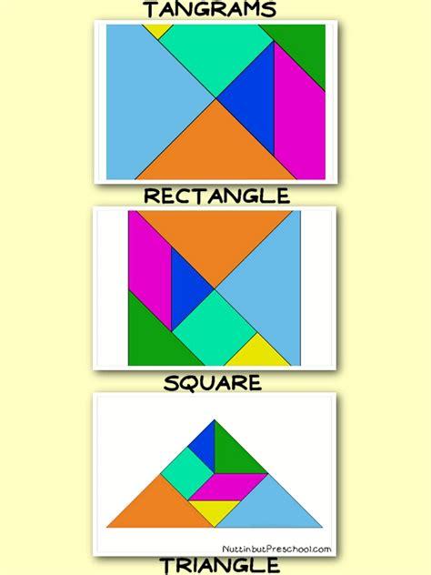 tangram square rectangle triangle nuttin but preschool