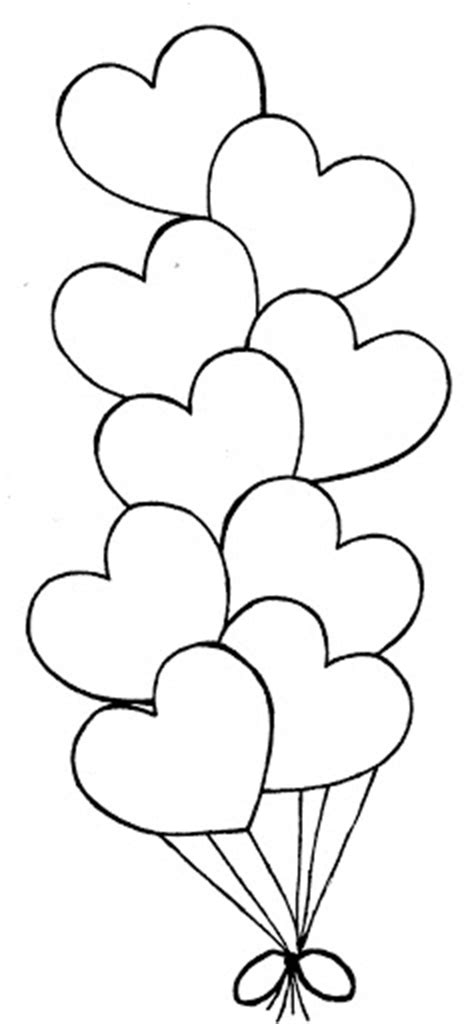heart balloon coloring page free coloring pages of heart balloons