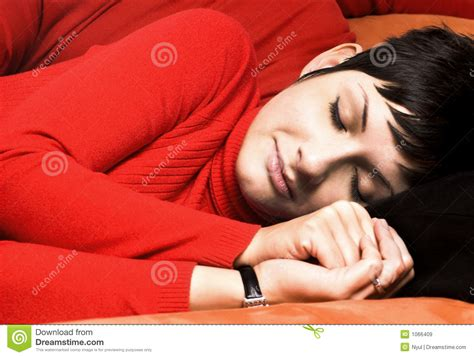 Sleeping On The Sofa by Sleeping On The Royalty Free Stock Images Image