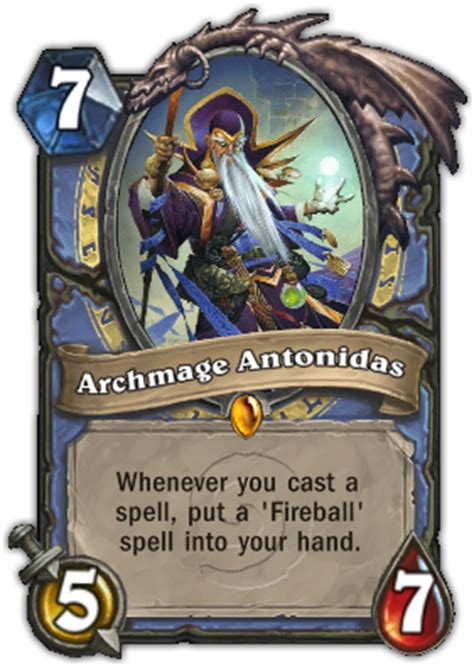 hearthstone legendary card template archmage antonidas liquipedia hearthstone wiki