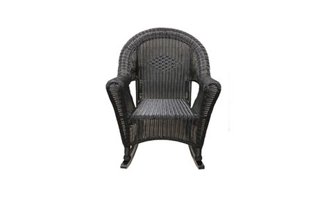 Black Wicker Rocking Chair Outdoor by Black Resin Wicker Rocking Chair Patio Furniture Groupon