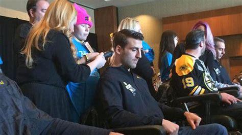 haircut price boston bruins get buzz cuts raise 100 000 for pediatric cancer