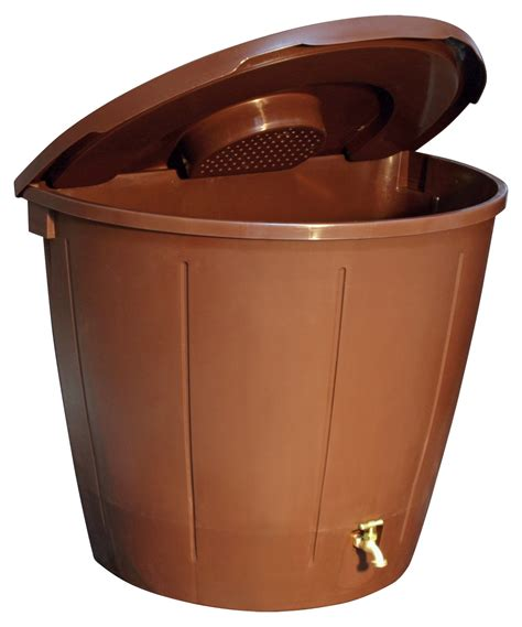 Barrel With Planter by Koolscapes 50 Gallon Barrel With 5 Planters