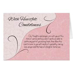 heartfelt condolences sympathy scroll words card zazzle