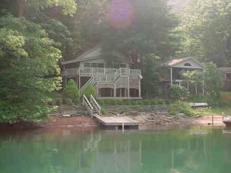 Carolina Lake Cabins by Lake Santeetlah Water Lake Front Vacation Cabin Home