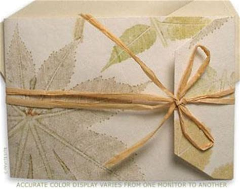 Leaf Themed Wedding Invitations by Leaf Sophisticated Eco Friendly Wedding Invitations