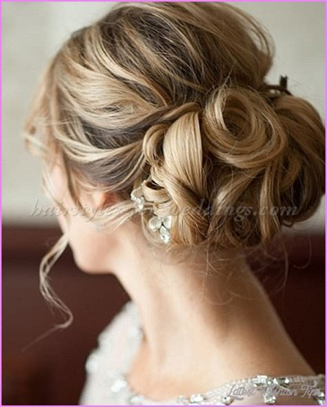 Wedding Hair Up In A Bun by Bridal Hairstyles Low Bun Latestfashiontips
