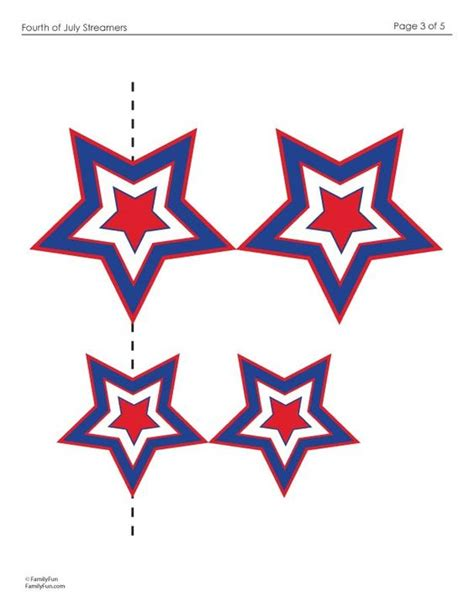 printable red star 4th of july streamers 4th of july crafts decor