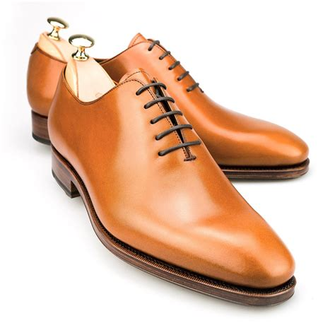mens light oxford shoes wholecut oxford in tanned calf carmina