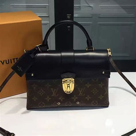 louis vuitton monogram canvas  handle flap bag mm
