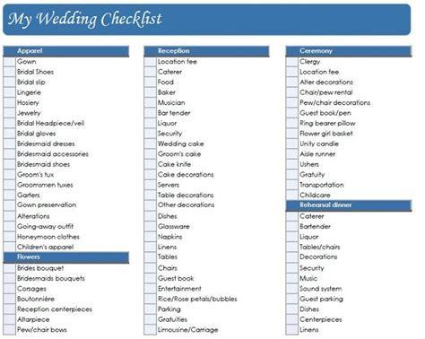 Printable Wedding Checklist   Wedding Planning Checklist