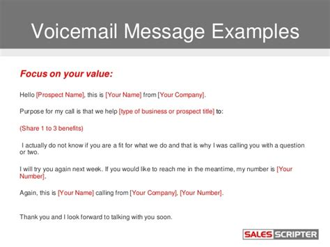 voicemail template how to use voicemail as a sales prospecting tool