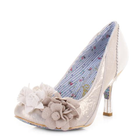irregular choice shoes irregular choice mrs lower white wedding