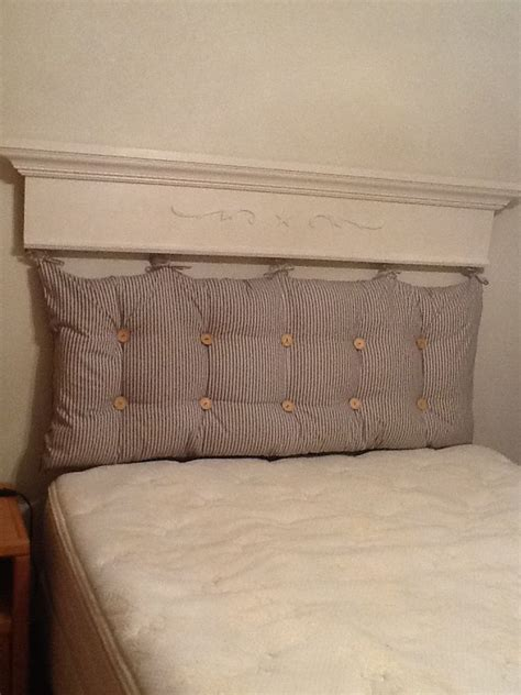 cushion headboard tufted pillow headboard things i ve made pinterest