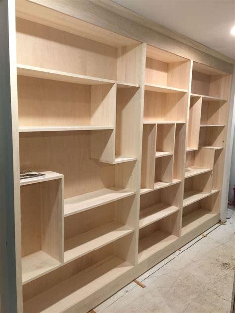 hallway tetris bookcase built ins  great  ft total