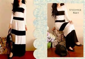 Kaos Besar Bahan Spandek Rayon striped maxi bahan kaos rayon spandek allsize fit l harga 97 000 gudang busana