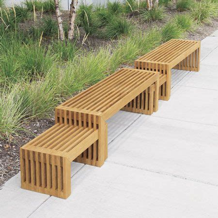 country casual benches strata teak backless bench country casual contemporary