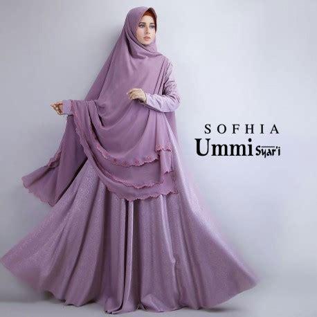 Open Po Baju Kurung Bordir Timbul sofhia purple baju muslim gamis modern