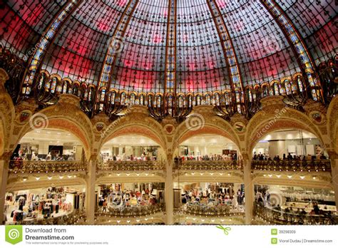 Sale Time At Galeries Lafayette by Galeries Lafayette Dome Editorial Stock Image Image Of