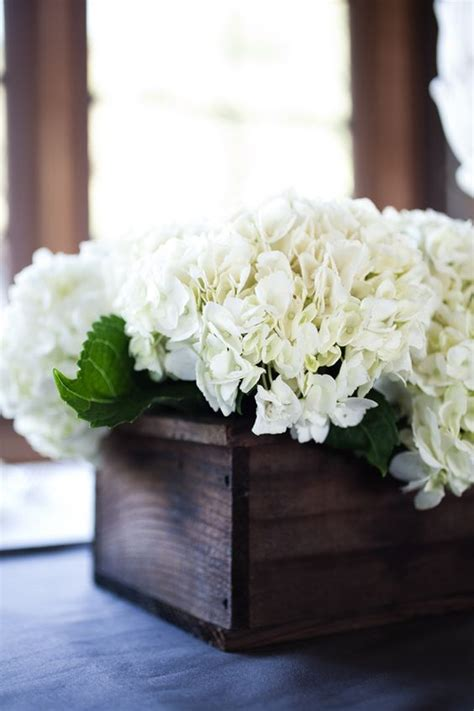 Wooden Boxes Boxes And Hydrangeas On Pinterest Boxes Centerpieces