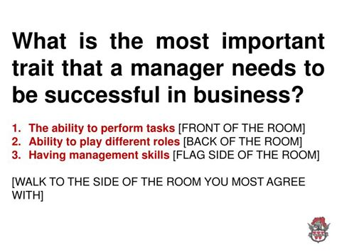 Is Mba Necessary To Be Successful In Business by Ppt What Is The Most Important Trait That A Manager