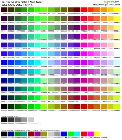 Color Codes | 123arena hexadecimal color code