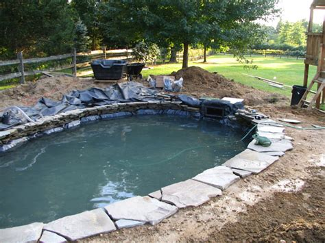 backyard pond construction garden waterfalls waterfallnow