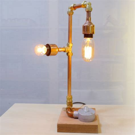 bespoke industrial copper pipe lamp workshop appointment
