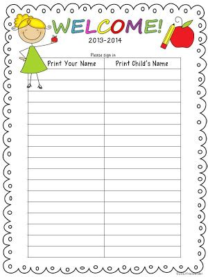 school open house sign in sheet the bender bunch science finds open house sign in