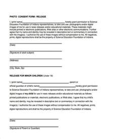 photo consent form template consent form templates