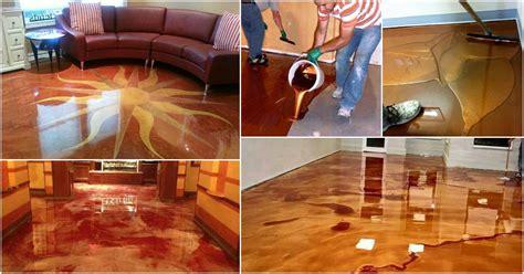 exciting  trend metallic epoxy floor   glossy