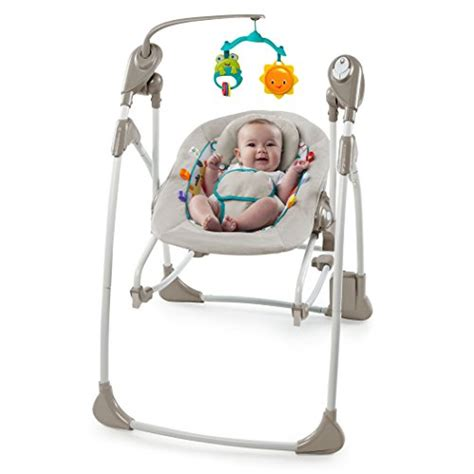 true speed baby swing bright starts rock and swing 2 in 1 jungle stream grey
