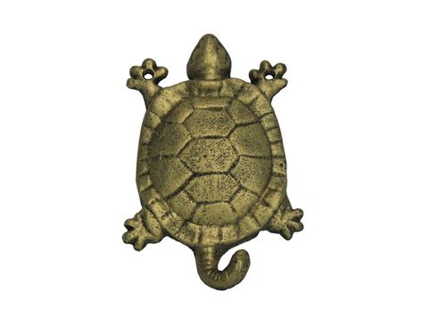 Cast Iron Decor by Buy Rustic Gold Cast Iron Turtle Hook 6 Inch Wholesale