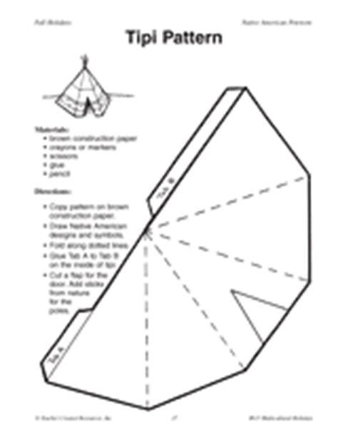 tipi pattern printable k 2nd grade teachervision com