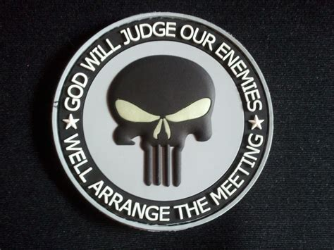 Rubber Patch God Will Judge Our Enemies Emblem Velcro Punisher gitd god will judge our enemies stl1 punisher patch pvc 3d acu rubber hook back eur 6 15