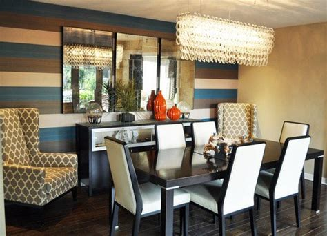 Horizontal Dining Room Chandeliers Modern Dining Room Gets An Update In Fullerton Horizontal
