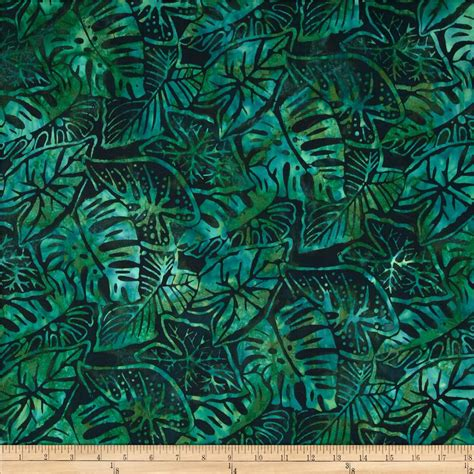 batik fabric pattern artisan batiks totally tropical fern leaves palm