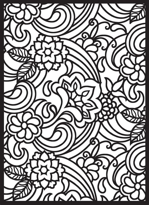 pattern color in free coloring pages of paisley pattern