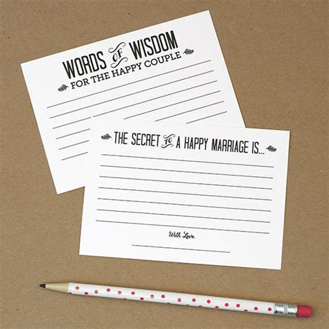 marriage advice cards templates 34 best dyi printable wedding guest book alternative
