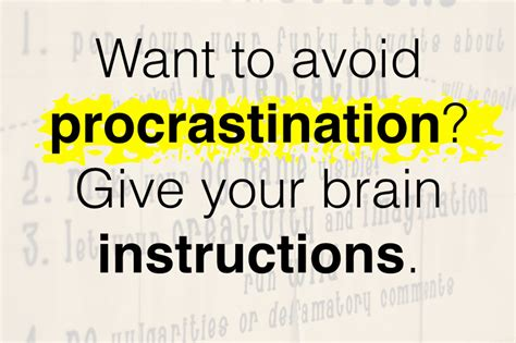 how to stop being light headed want to avoid procrastination give your brain