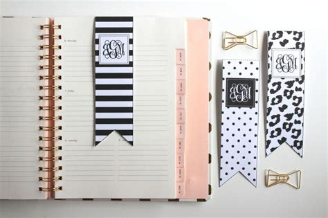 printable bookmark planner free printable black and white bookmarks by jessica marie
