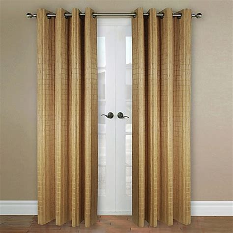 bamboo curtain panels grommet versailles home natural sustainable bamboo grommet window