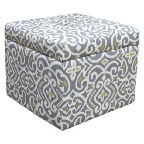 Target Accent Furniture Storage Ottoman New Damask Gray Damask Storage Ottoman