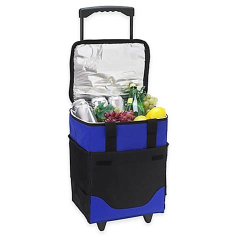 bed bath and beyond cooler buy picnic at ascot 32 can collapsible rolling cooler from