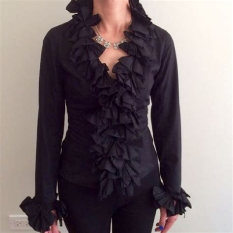 Blouse Valentina Ruffle 67 fontaine tops bundled fontaine black ruffle blouse from valentina s