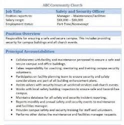front desk security officer description 45 free downloadable sle church descriptions