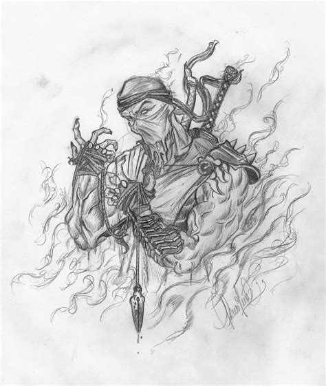 imagenes a lapiz de mortal kombat dibujo de scorpion paso a paso taringa