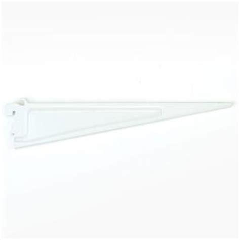 Closetmaid 12 Inch Shelf Bracket Closetmaid Shelftrack 12 In X 5 In White Shelf Bracket